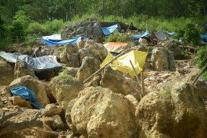 Lokasi pengambilan bahan baku emas di Lumut. (doc. LGco)