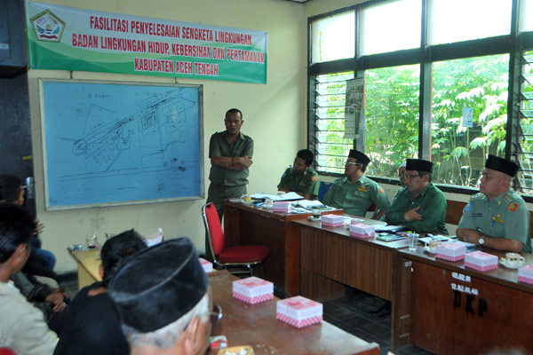 Penyelesaian sengketa lingkungan di Aceh Tengah