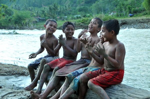 Saman anak-anak Tetingi Gayo Lues. (LGco_Khalis)