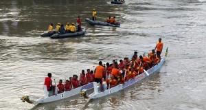 Hari Nusantara ke-15 dan HUT Kodam IM Ke-59 Dimeriahkan Lomba Perahu Naga