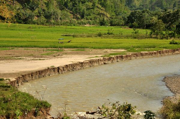 Abrasi di sungai Rikit Gaib. (LGco_Munawardi)