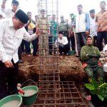 Masjid Genting Gerbang Mulai Dibangun, Bupati Letakkan Batu Pertama