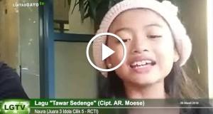 """[Video] Naura ICIL Ucapkan """"Berijin"""" & Nyanyikan Tawar Sedenge"""