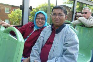 Ardjuna Thalib dan istri