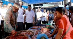 Sidak Pasar, Gubernur : Stok Pangan Aceh Cukup Selama Ramadhan