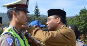 Jelang Lebaran, Polres Aceh Tengah Gelar Apel Pasukan