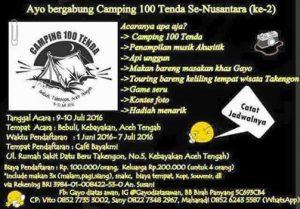 iklan camping 100 tenda