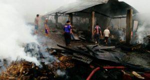Jelang Magrib, Pabrik Gula di Weh Pesam Bener Meriah Terbakar