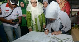 Ketua Dekranasda Aceh Berkunjung ke Gampong Kerajinan Bireuen