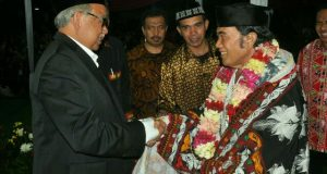 [foto] Zaini-Nasaruddin bersama Agum Gumelar dan Rhoma Irama di Jakarta