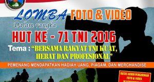 Info Lomba Foto dan Video Hari TNI ke-71 Tahun 2016