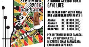 Ini Syarat dan Ketentuan Festival Musik Etnik Gayo Lues