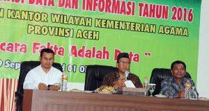 Kanwil Kemenag Aceh Gelar Rakor Data dan Informasi Tahun 2016