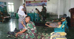 Peringati HUT TNI, Kodim 0106/AT-BM Donor Darah