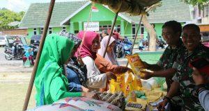 HUT TNI ke-97, Kodim 0106/AT-BM Adakan Pasar Murah