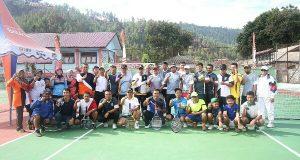 70 Peserta Ikuti Turnamen Tennis Dandim 0106 Cup