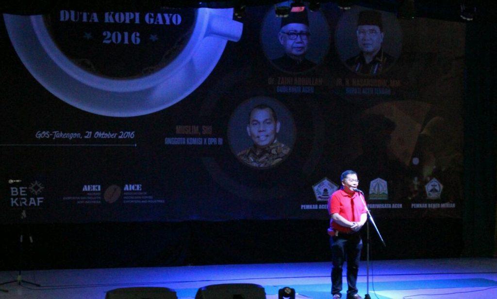 Ketua panitia KKSI 8 AEKI, Pranoto Soenarto memberikan kata sambutan