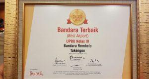 Rembele Takengon, Bandara Terbaik Kelas III se-Indonesia