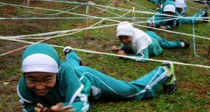 Latih Kekuatan Fisik dan Tafakur Alam, 400 Siswa SDIT Cendikia Ikuti Outbond