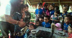 Seladang Cafe Beri Edukasi Kopi Gayo ke Anak TK