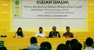 Fisip UINAR Gelar Kuliah Umum Peran Akademisi dalam Agenda Rekonsiliasi Aceh
