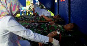 Meriahkan HUT PGRI ke-71, Prajurit Kodim 0106 Sumbang darah