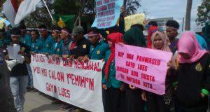 Kawal Pilkada Damai, Mahasiswa PDD Unsyiah Gayo Lues Gelar Unjuk Rasa
