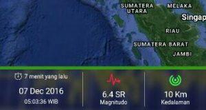 Gempa 6,4 SR Goyang Aceh