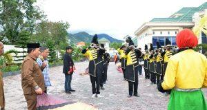 Bener Meriah Sambut Tim Marching Band Gita Handayani