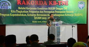 Kodam IM dan BKKBN Aceh Gelar Rakorda KB-TNI