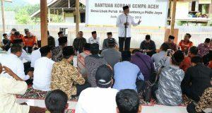 Ketika Menteri Agama Menyapa Korban Gempa di Pedalaman Pidie Jaya