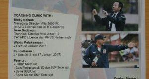 Datangkan Pelatih Berlisensi A AFC, ASSA Aceh Tengah Buka Pendaftaran Coaching Clinic