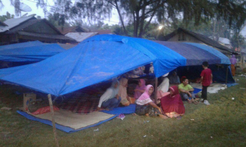 Pengungsi Gempa Pidie Jaya. (foto : Rahmat)