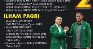 Dahlan Fajri dan Ilham Paqri Pimpin Dema STAIN