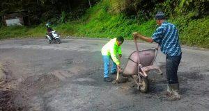 Banyak Lubang, Jalan Nasional Gayo Terkesan Dibiarkan