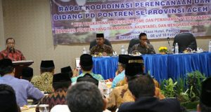 Bersama Lintas Instansi, Kemenag Aceh Gelar Rakor Pondok Pesantren