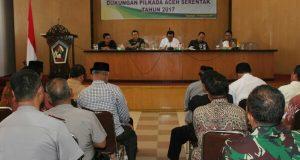 Jelang Pilkada, Pemkab Aceh Tengah Rakor Bersama KIP dan TNI-Polri