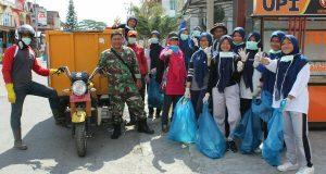 Dukung HPSN, Kodim 0106/AT-BM Turut Serta Bersihkan Sampah