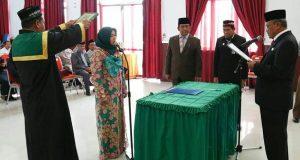 PAW Komisioner KIP Bener Meriah Hasanah Silang Dilantik