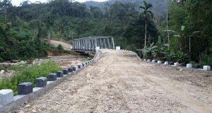 Jembatan Hampir Rampung, Lintas Pining-Lokop Serbejadi Makin Dekat