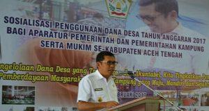 Dana Desa Rp 286 Milyar untuk Aceh Tengah