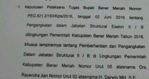 Putusan PTUN, Plt Bupati Bener Meriah Wajib Kembalikan Sejumlah Jabatan