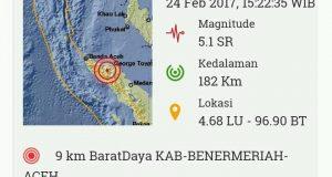 SMS Gempa, Ini Penjelasan BPBD dan Kominfo Aceh Tengah