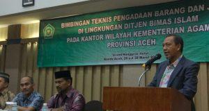 Kanwil Kemenag Aceh; Pengadaan Barang Dan Jasa Harus Jaga Kualitas dan Ikut Prosedur