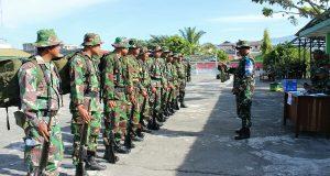 Prajurit Kodim 0106/AT-BM Diuji Kemampuan Jabatan Teritorial dan Intel