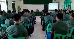 KP2KP Blangkejeren Berikan Sosialisasi Pajak ke Prajurit Kodim 0113