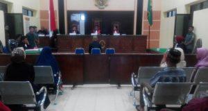 Sidang Putusan Kasus Granat di Bener Meriah sedang Berlangsung