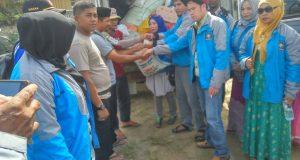Forum Silaturrahmi Gayo Bersatu Serahkan Bantuan Korban Banjir Agara