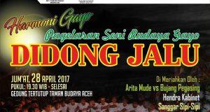 28 April 2017, Ada Harmoni Gayo di Taman Budaya Banda Aceh