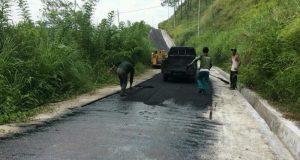 [foto] Kualitas Jalan Bah-Serempah Ketol Disempurnakan